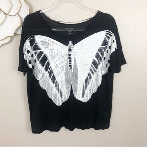 Kensie butterfly graphic tee